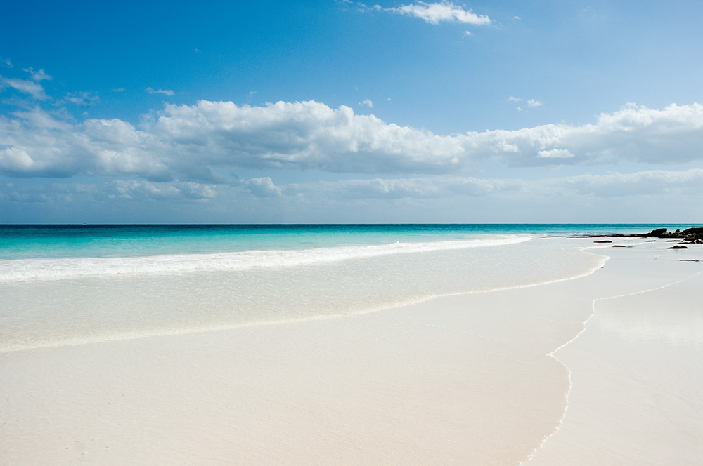 Empty beach, Tulum, Mexico --- Image by © Jane Looker/cultura/Corbis